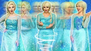 ALL DISNEY PRINCESSES TURN INTO ELSA (With Ariel, Rapunzel and Belle) Totally TV