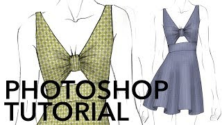 How to Add & Warp Patterned Fabrics in Adobe Photoshop