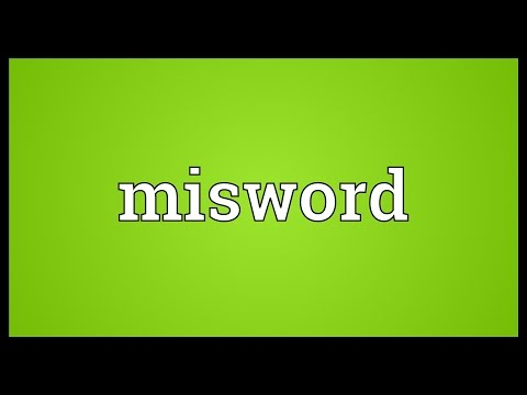Header of misword