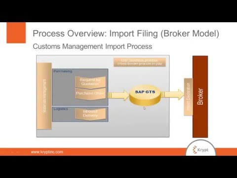 Import Filing using a Customs Broker  case study using SAP GTS