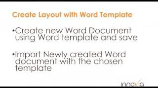 NAV Word Layout Report Development