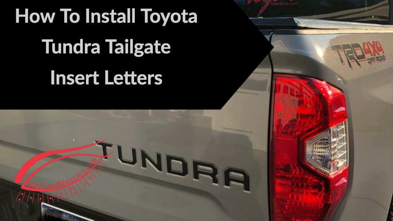 Auto safety for Toyota Tundra 2014-2019 Tailgate 3D Raised Metal Insert Letters Toyota Tundra Accessories /… Not Decal Sticker Chrome