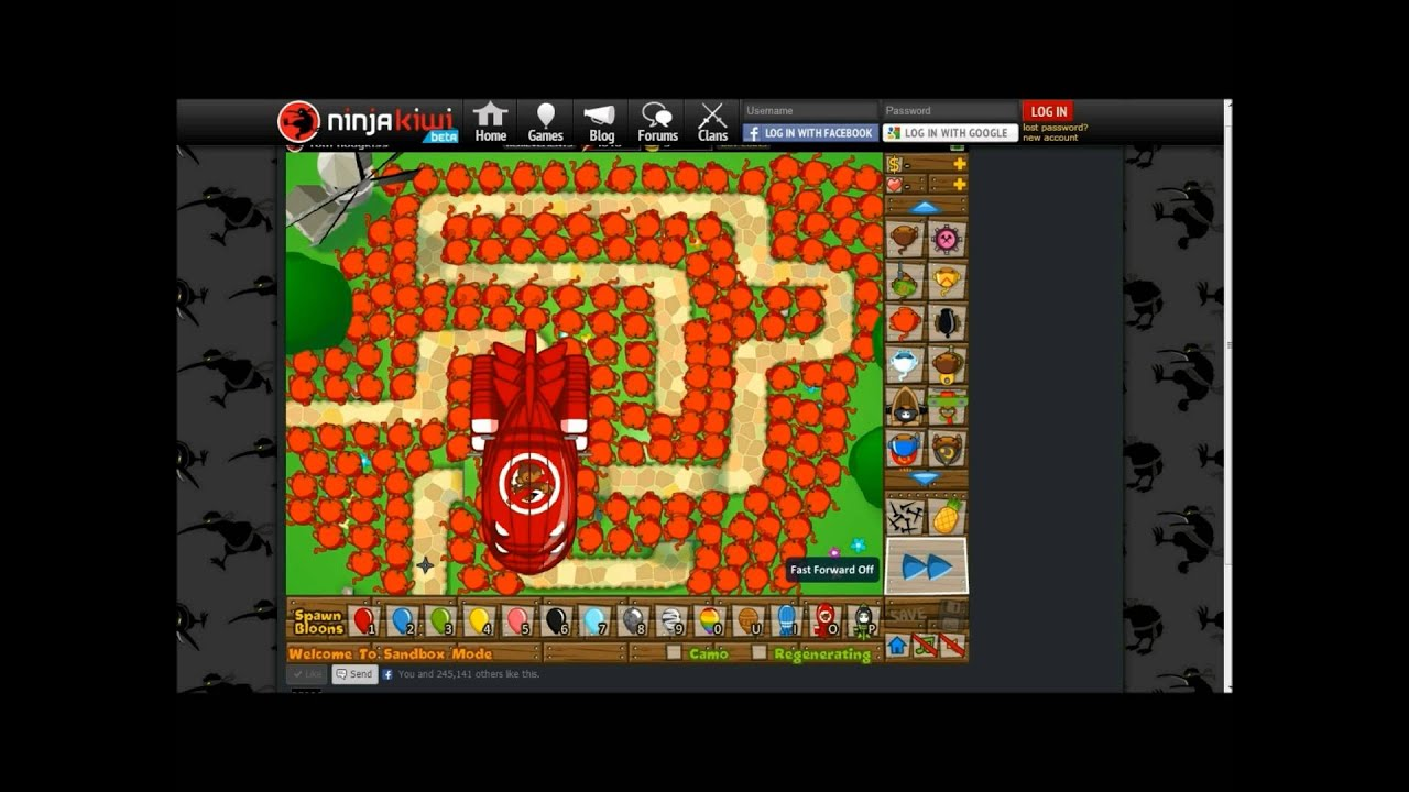 BTD5, Bloons Tower Defense 5, Ninja Monkey VS ZOMG - YouTube