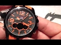 U.S. Polo Assn. Sport Men's US9057 orange sport watch unboxing and review
