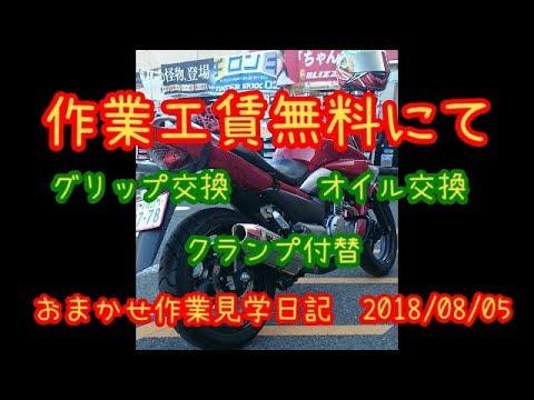 【バイクメンテナンス】「GSR250」 「グラストラッカー」【作業見学の日 ぱたぱたツーリング日記】
