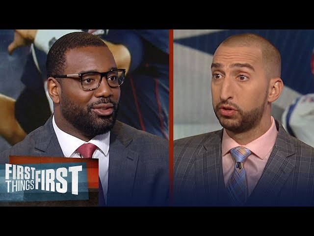 Chris Canty on Patriots depleting receiving corps, deny interest in Dez | NFL | FIRST THINGS FIRST