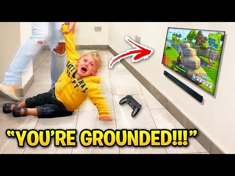 KIDS GROUNDED By PARENTS On Fortnite!
