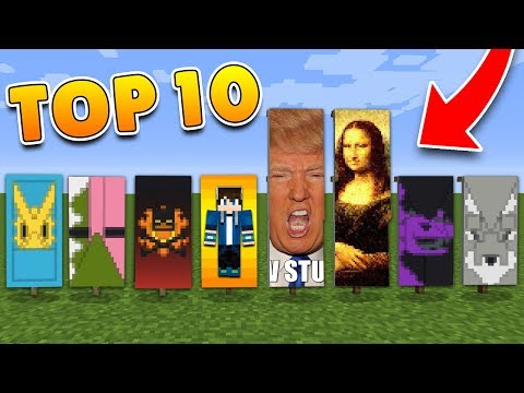TOP 10 BANNER Designs in Minecraft with Tutorial! (Pocket Edition, PS4/3, Xbox, Switch, PC)