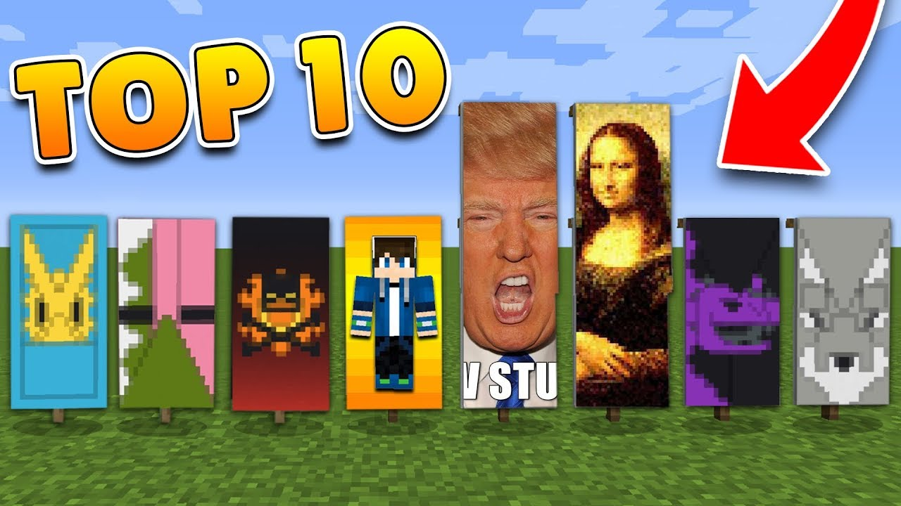 Top 10 Banner Designs In Minecraft With Tutorial Pocket Edition Ps4 3 Xbox Switch Pc Youtube