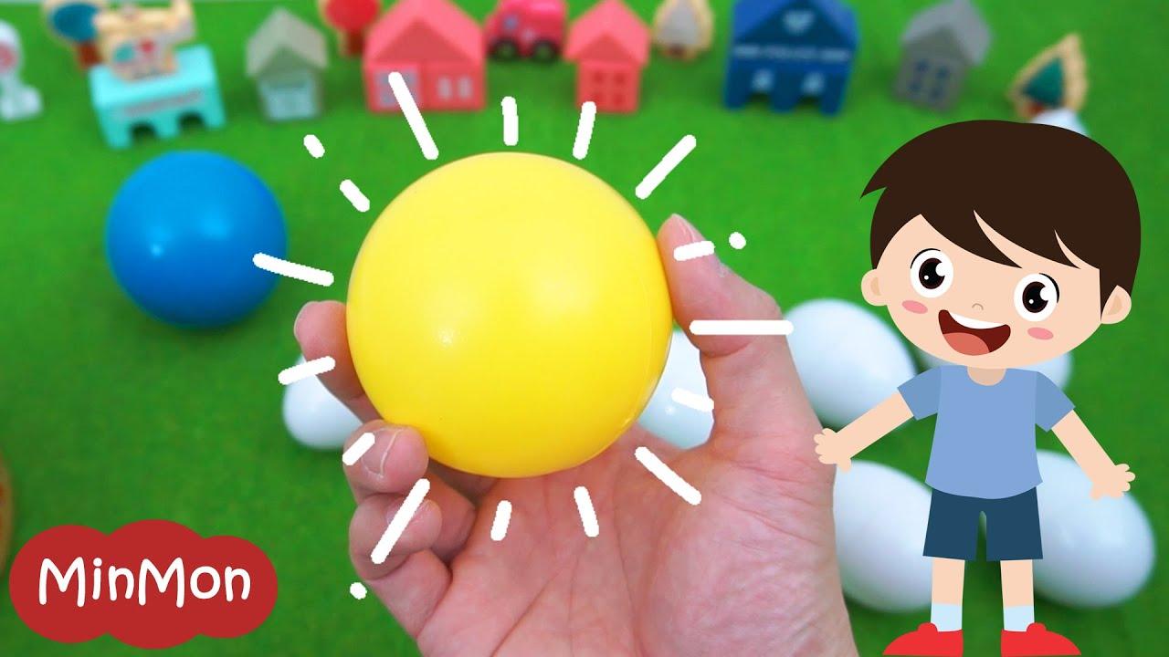 [เรียนรู้แสนสนุก] รู้จักรูปร่างรูปทรง | เปิดไข่ Surprise Eggs และเกมส์ Shape Hunt กับ พี่มอนมอน