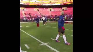 New York Giants WR Handshake Before Game Against the Redskins