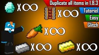 minecraft tutoriel dupliquez tous vos items a l infini glitch 1 8 3 not work in 1 9