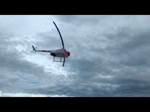 Helicóptero cai às margens do Rio Turvo, em MG