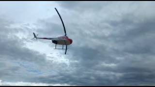 Helicóptero cai nas águas do Rio Turvo, em Capitólio