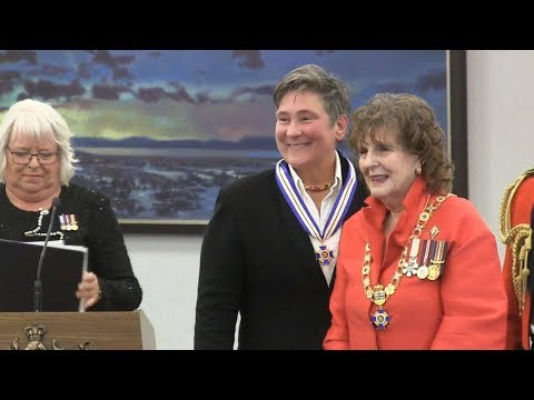 Singer k.d. lang receives Alberta's highest honour