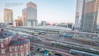 4K Timelapse / Tokyo Station and Tower. Jan. 18, 2014