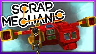 Scrap Mechanic :: SURVIVAL SPACESHIP CRASH! :: Let's Play Scrap Mechanic