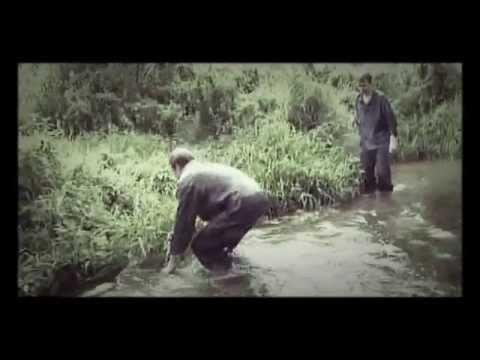 ловить руками рыбу в мутной воде