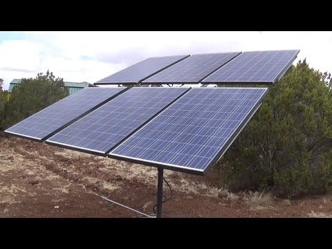 Solar Pole Rack - Manual Adjustable both Axis - Holds 6 260w Panels