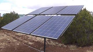 Сонячна сушарка для полюс - з ручним регулюванням по обох осях - тримає 6 260 Вт панелей