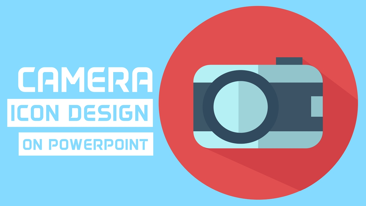 how to make a camera icon on powerpoint icon making tutorial youtube