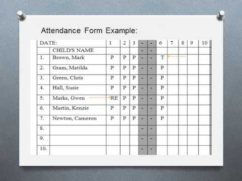 Attendance Form Training  Youtube