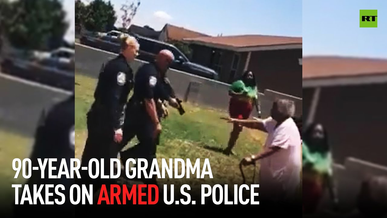 90yo grandma takes on armed US police