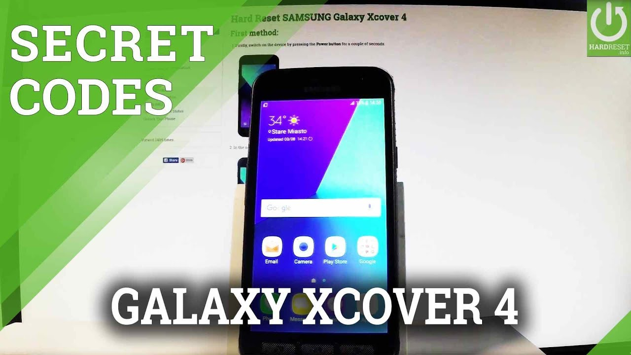 Codes in SAMSUNG Galaxy Xcover 4 - Secret Menu / Tricks / Hidden Mode