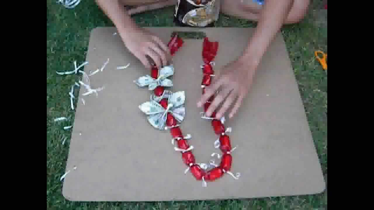 How to jazz up a simple candy lei chain request youtube izmirmasajfo