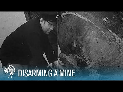 Danger!: Disarming A WWII German Mine (1940) | British Pathé