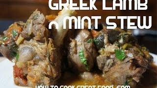 Greek Style Lamb & Mint Stew Recipe - Slow Cook