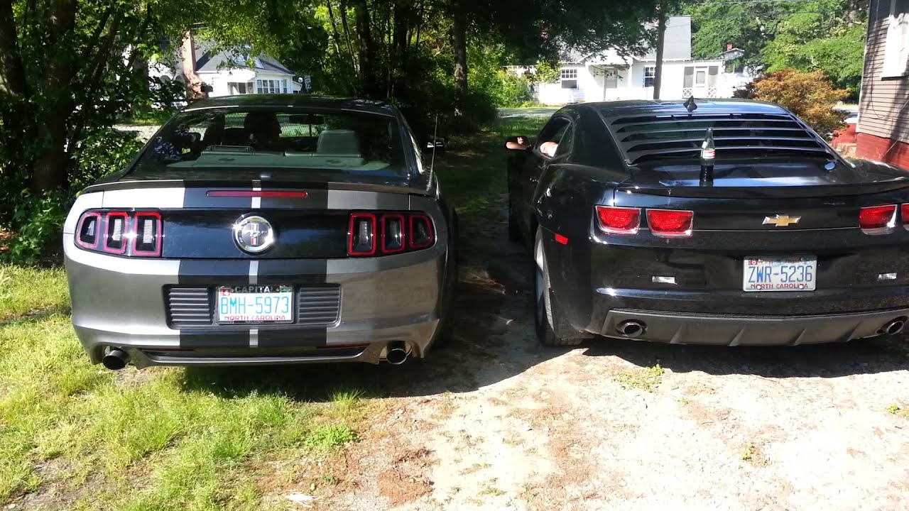 Exhaust Test 2014 Mustang V6 Vs 2012 Camaro V6 Youtube