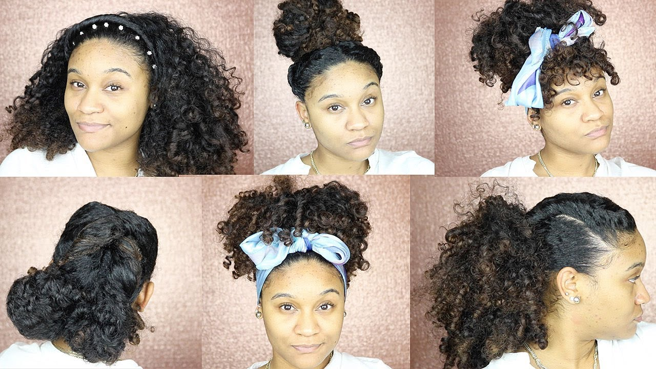 6 easy hairstyles for an old wash & go!