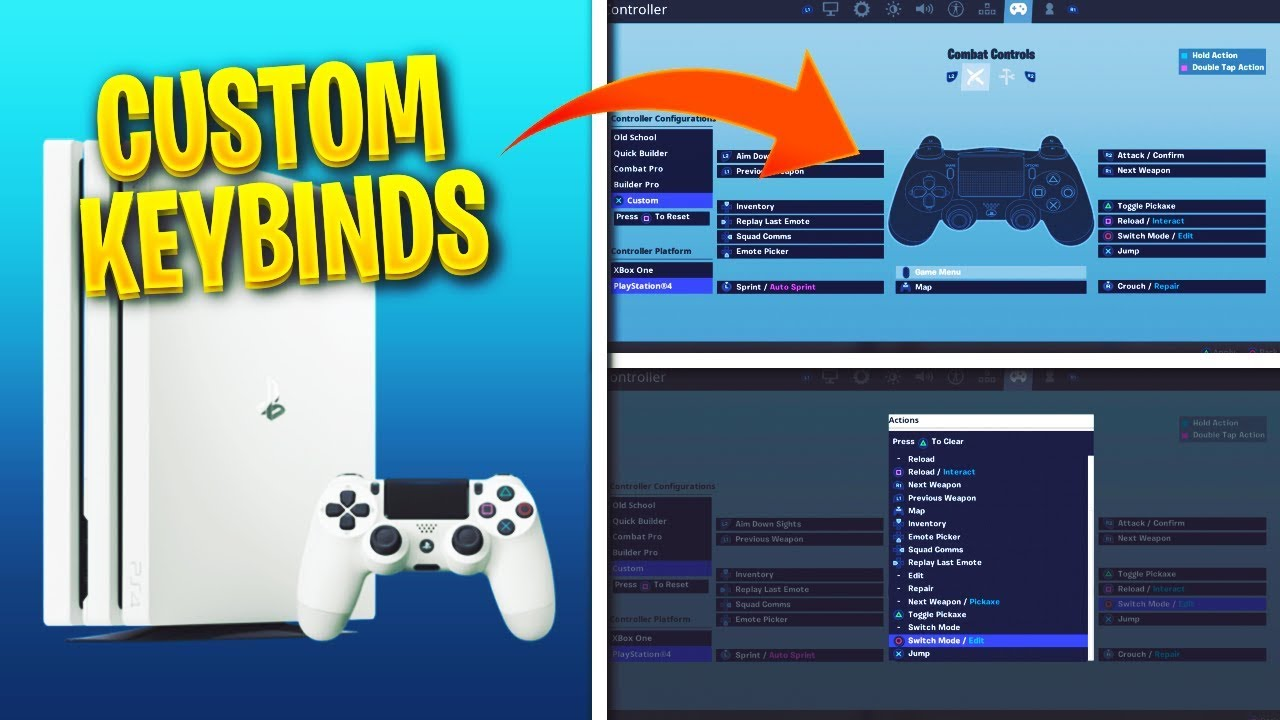 How To Set Custom Keybinds For Fortnite On Console Fortnite
