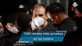 """Héctor """"El Güero"""" Palma Salazar salió de las instalaciones de la Subprocuraduría Especializada en Investigación de Delincuencia Organizada en un convoy que lo lleva al Centro de Arraigos de la FGR"""