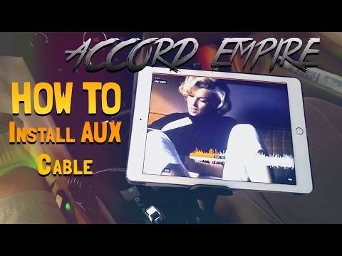 How to Install AUX in Honda Accord