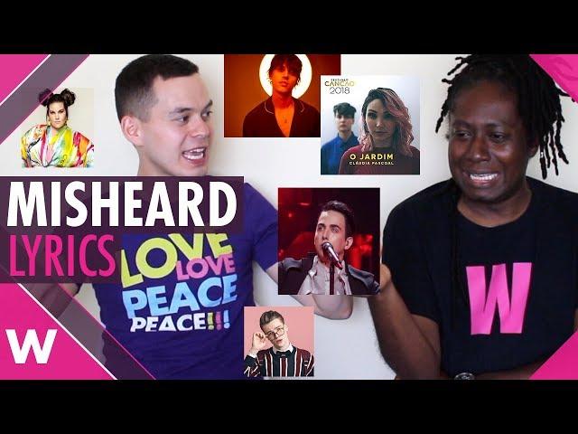 Eurovision 2018: Misheard lyrics