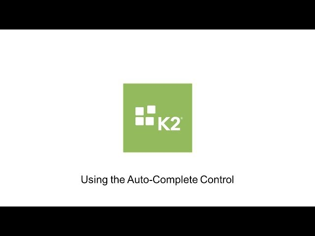 How-To: Using the Auto-Complete Control