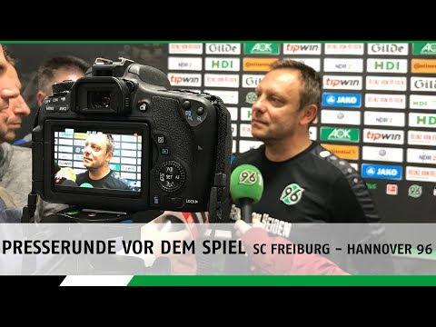 Presserunde vor dem Spiel | SC Freiburg - Hannover 96