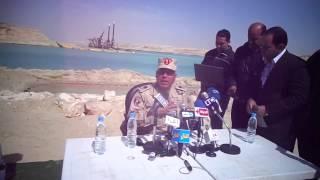 اللواء كامل الوزير: الانتهاء من حفر204مليون متر مكعب وتكريك 74مليون متر بالقناة الجديدة 26فبراير