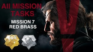 Metal Gear Solid V: The Phantom Pain - All Mission Tasks (Mission 7 - Red Brass)