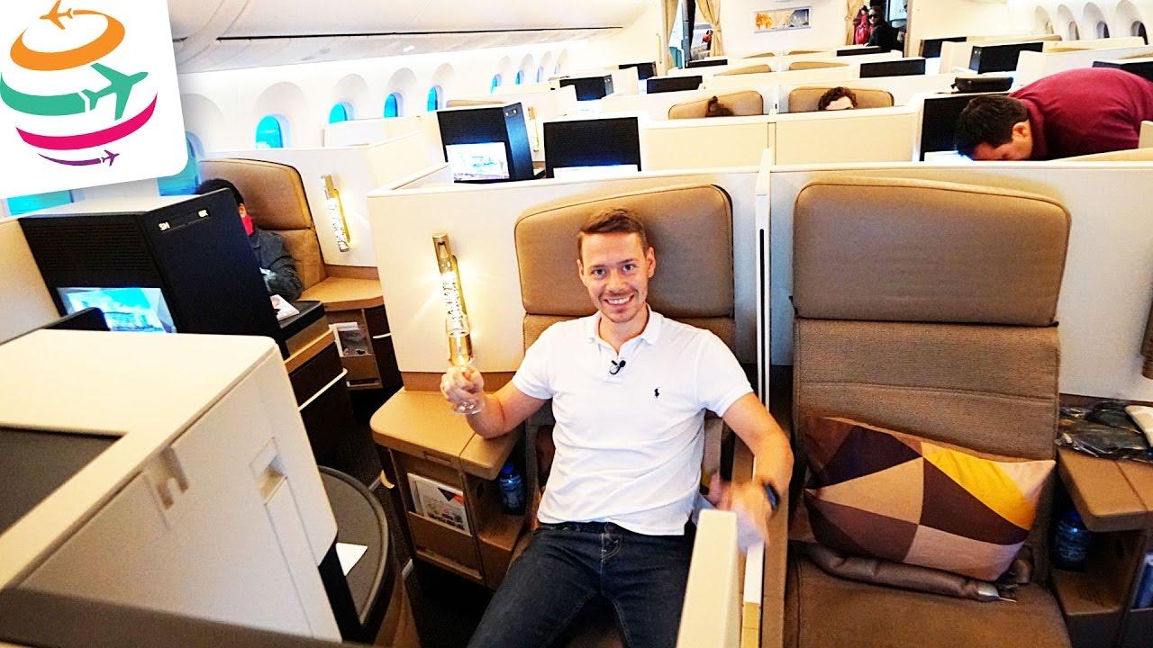 Etihad Business Class Boeing 787 9   GlobalTraveler.TV