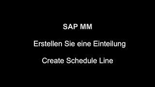 SAP MM - program Satırı Oluşturun