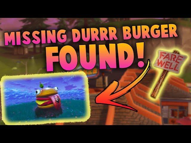 Teleported Durr Burger Location In Fortnite SEASON 5 |