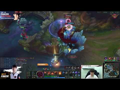 He gets a thumbs up after winning a 2v1 in Top lane, Faker plays Ornn [ Full Game ]