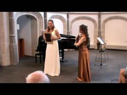 """W.A.Mozart """"Ah, guarda sorella"""" Duett. Nadja Knop & Katja Becker"""