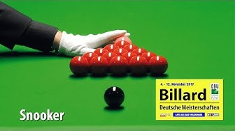 Livestream Snooker - Deutsche Meisterschaften 2017 Tag 9 powered by REELIVE & Touch
