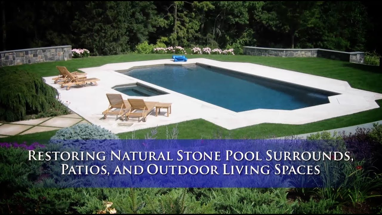 Natural Stone Pool Decks & Patios Restoration Orlando, Daytona Beach