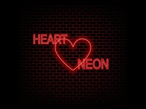 Как нарисовать неоновое сердце на фоне кирпичной стены в Adobe Illustrator?