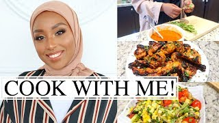 COOK IFTAR WITH ME! Peri-Peri Chicken Drumstick + Summer Salad Recipe | Aysha Abdul